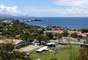View of the Honiara Harbor