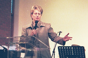 Julie at AOG Women's Ministries National Conference in Wales