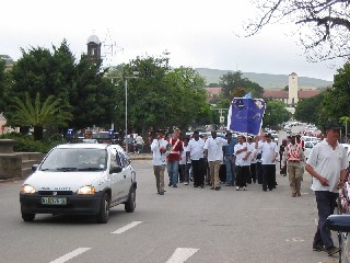 Prayer walk in Grahamstown